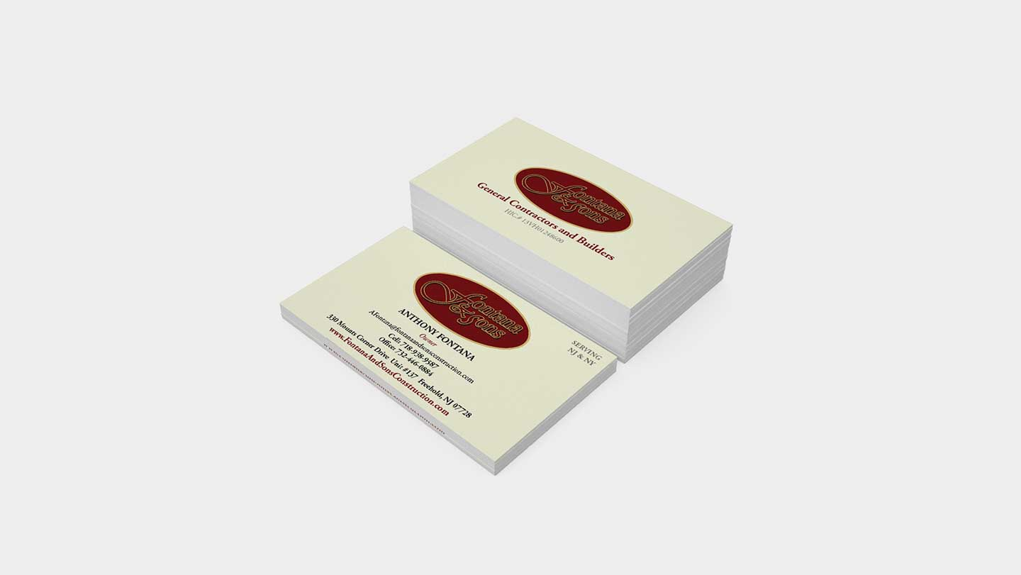 Fontana and sons business cards the greene touch fl 561 360 2200 reheart Gallery